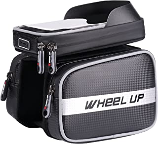 "Great Dipper Wheel UP Bike Frame Bag Touch Screen | Tough Case | Large Safty Reflective| Mobile Cell Phone Bag Top Tube Bag for 6.2""Phone"