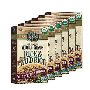 Lundberg Family Farms - Organic Whole Grain Rice & Wild Rice, Wild Porcini Mushroom, Side Dish, Pantry Staple, 100% Whole Grain, Non-GMO, Gluten-Free, USDA Certified Organic, Vegan (6 oz, 6-Pack)