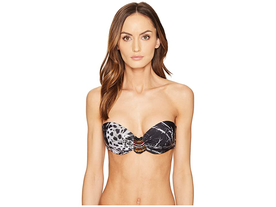 Agua De Coco by Liana Thomaz Beaded Strapless Top (Onca) Women