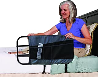 Able Life 4-Pocket Bed Rail Organizer Pouch Accessory for Able Life Bedside Extend-A-Rail, Black