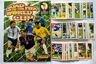 Panini Road to The Korea Japan 2002 World Cup Complete Stickers + Album