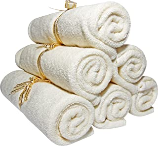 Baby Washcloths - Organic Bamboo, Luxury 2-ply washcloth. Suitable for Eczema.