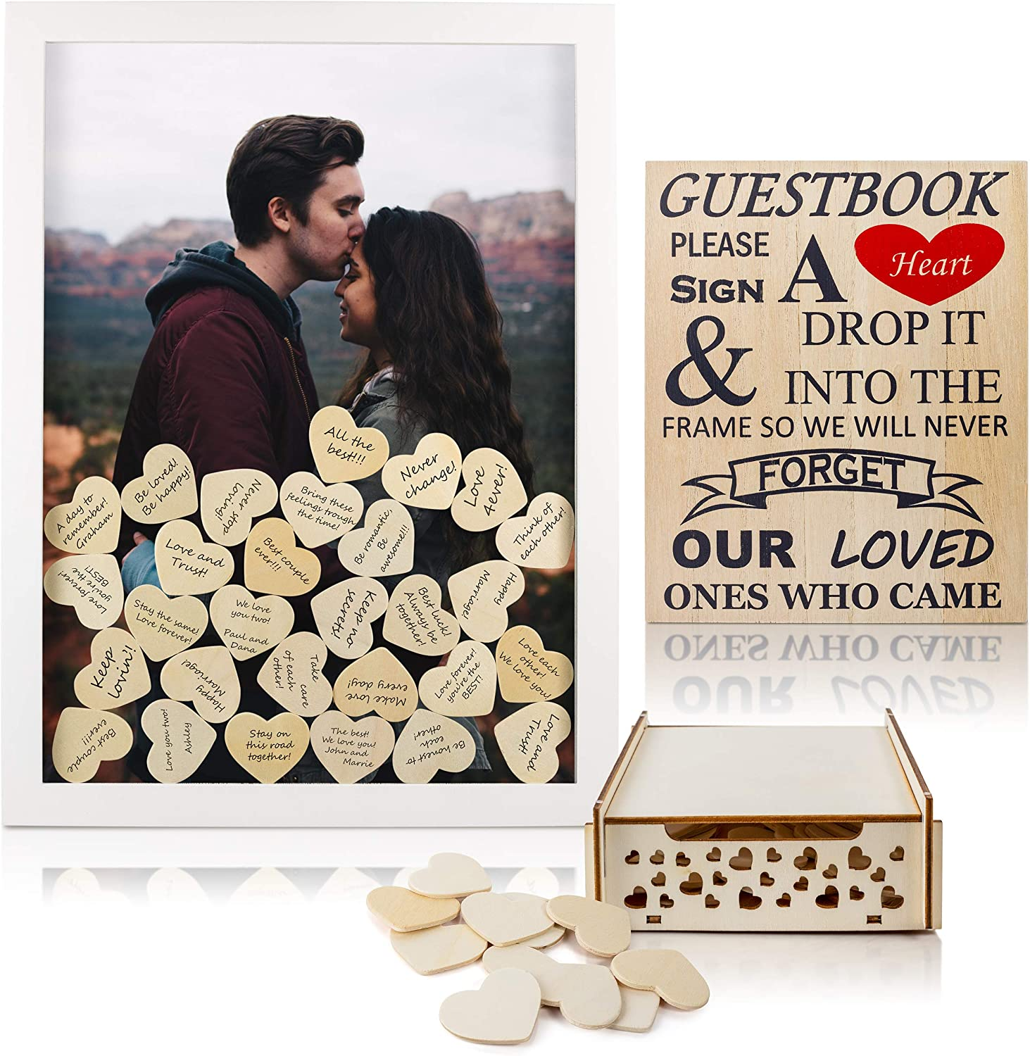 V-COSTA New mail order Wedding Guest Book Alternative for S 2021 spring and summer new with Hearts