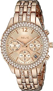 Relic by Fossil Women's Merritt Quartz Metal Sport Watch, Color: Rose Gold (Model: ZR15787)