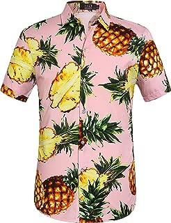 Men's Pineapple Casual Button Down Short Sleeve Hawaiian Shirt