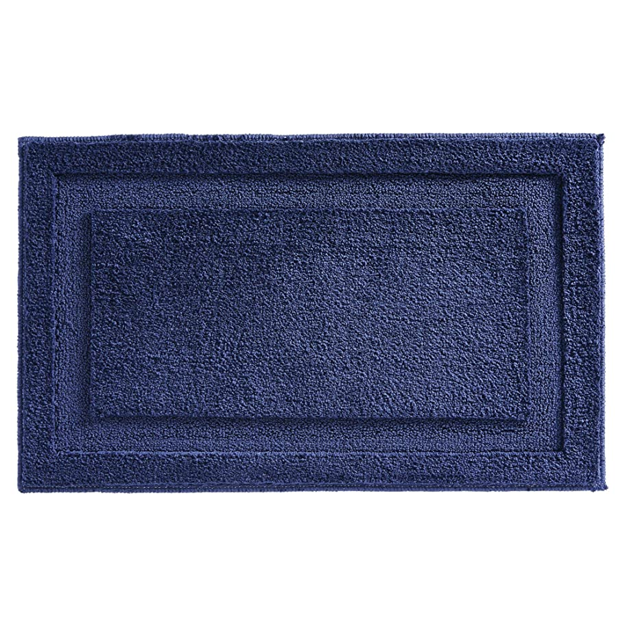InterDesign Spa Microfiber Polyester Bath Mat, Non-Slip Shower Accent Rug for Master, Guest, and Kids' Bathroom, 34