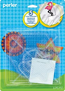 Perler Beads Clear Shaped Pegboards, 5pc