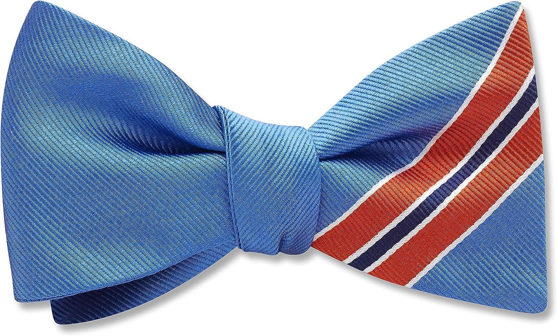 Winnipeg Orange Striped, Men's Bow Tie, Handmade in the USA