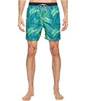 Scotch & Soda - Medium Length Swim Shorts in Fine Peached Quality with Pattern