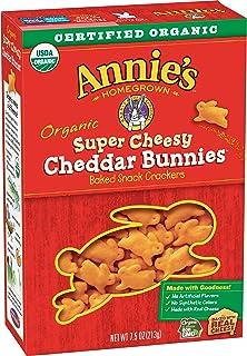 Annie's Organic Extra Cheesy Cheddar Bunnies Snack Crackers, 7.5 oz