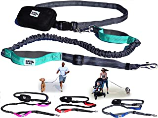 Black Rhino - Premium Hands Free Dog Leash for Running Walking Jogging & Hiking - Adjustable Length Dual Handle Bungee Leash Medium – Large Dogs Neoprene Padded Handles