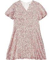 Heart Print On Silk CDC Aspen Dress (Big Kids)