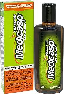 Medicasp Coal Tar Gel Dandruff Shampoo to Treat Seborrheic Dermatitis Psoriasis, 6 oz.