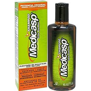Medicasp Coal Tar Gel Anti-Dandruff Shampoo - Treats Dandruff, and Seborrheic Dermatitis and Psoriasis, 6 fluid ounce