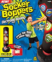 Socker Boppers Electronic Bop Bag by Big Time Toys, Inflatable Punching/Kickboxing Bag withLightsand Sound