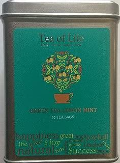 Tea of Life Square Tin - 50 Bags (Green Tea Lemon Mint)