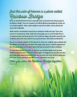 Soapbox Studio Rainbow Bridge Keepsake Pet Sympathy Print for Dog, Cat, Horse or Any Pet Loss, 8