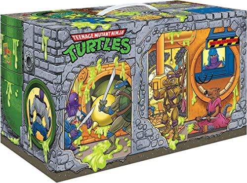 new arrival PlayMates Teenage Mutant outlet online sale Ninja Turtles: Retro Rotocast new arrival Sewer Lair 6-Piece Action Figure Set, Multicolor sale