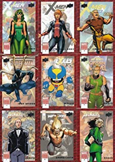 MARVEL ANNUAL 2018 UPPER DECK COMPLETE BASE CARD SET OF 100L FOIL CARD SET 100 MARVEL