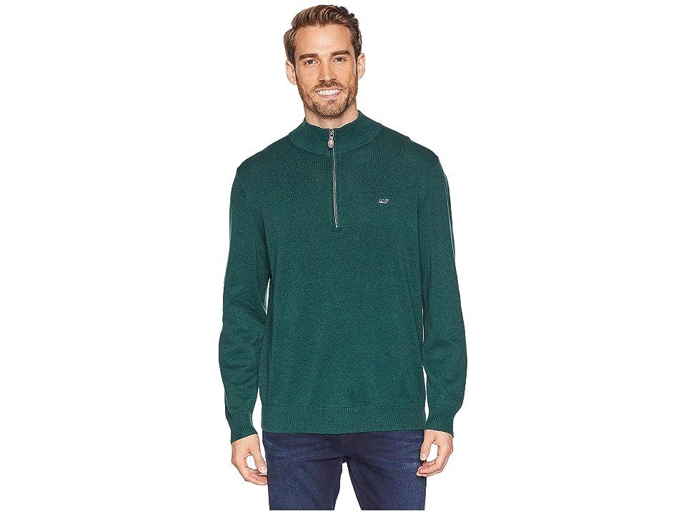 Vineyard Vines Palm Beach 1/4 Zip Sweater (Charleston Green) Men