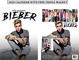 Justin Bieber Unofficial Calendar 2020 + Justin Bieber Refrigerator Magnet