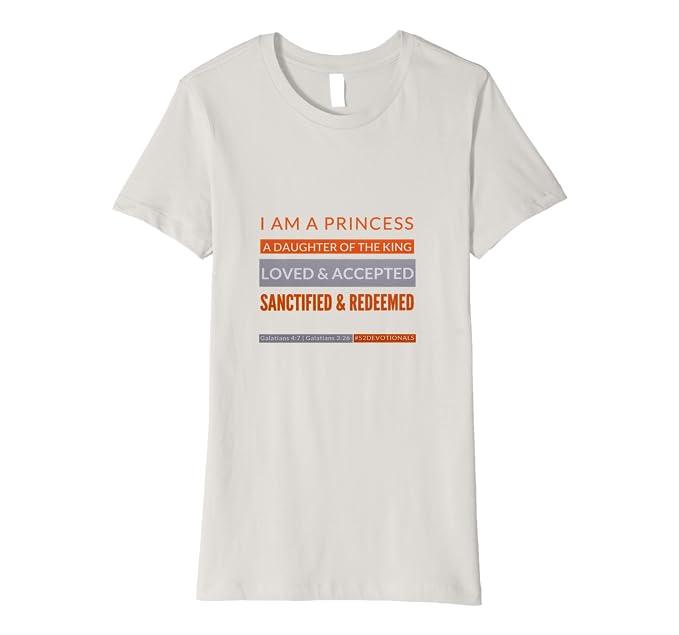 I am a princess Silver Tshirt for Christian Women by Anna Szabo #52Devotionals
