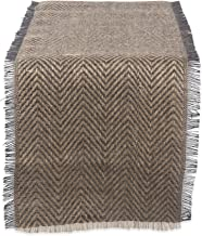 "DII Jute Collection Kitchen Tabletop, Table Runner - 14 x 108"", Chevron Gray"