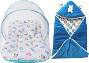My Newborn Baby Mosquito Net and AC Blanket Wrapper-Combo of 2 PCs