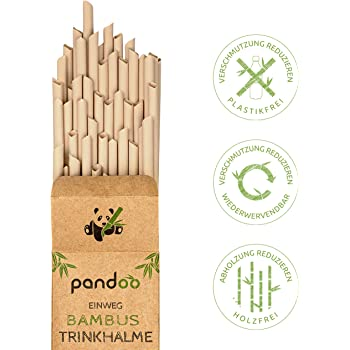 Paja Limpiadora de Pajitas de Pl/ástico Libre Ecol/ógica Viajes BINSENI Pajitas de Bamb/ú Reutilizables Pajitas Biodegradables y Sostenibles para Bebidas Amarillo Fiestas Caf/é