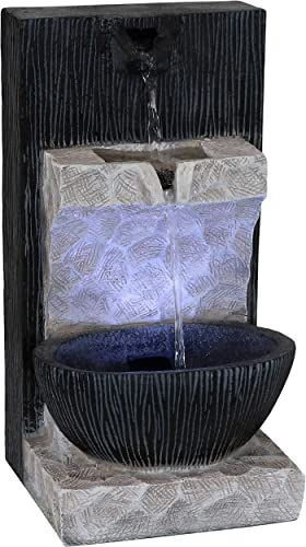 2021 Sunnydaze popular Tranquil Basin Indoor Tabletop Water Fountain with LED Light - Decorative Home Office, Desk, Table or Countertop Waterfall Feature Accent 2021 - 13-Inch online