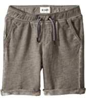 Hudson Kids - Pigment Dye Pull-On Shorts in Silver Cloud (Toddler/Little Kids/Big Kids)