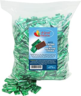 Andes Mints - Andes Creme De Menthe Thins - Christmas Candy - Green Candy - 3 LB Bulk Candy