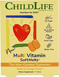 ChildLife Essentials Multi Vitamin SoftMelts - for Infants, Babies, Kids, Toddlers, Children, and Teenagers - Natural Oran...