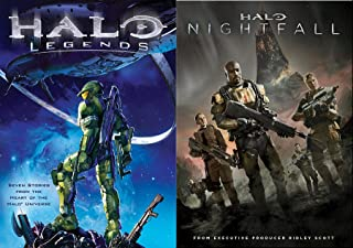 Nightfall Legends Halo Video Game Movie Set DVD Pack Ridley Scott Movie & Anime Stories Collection