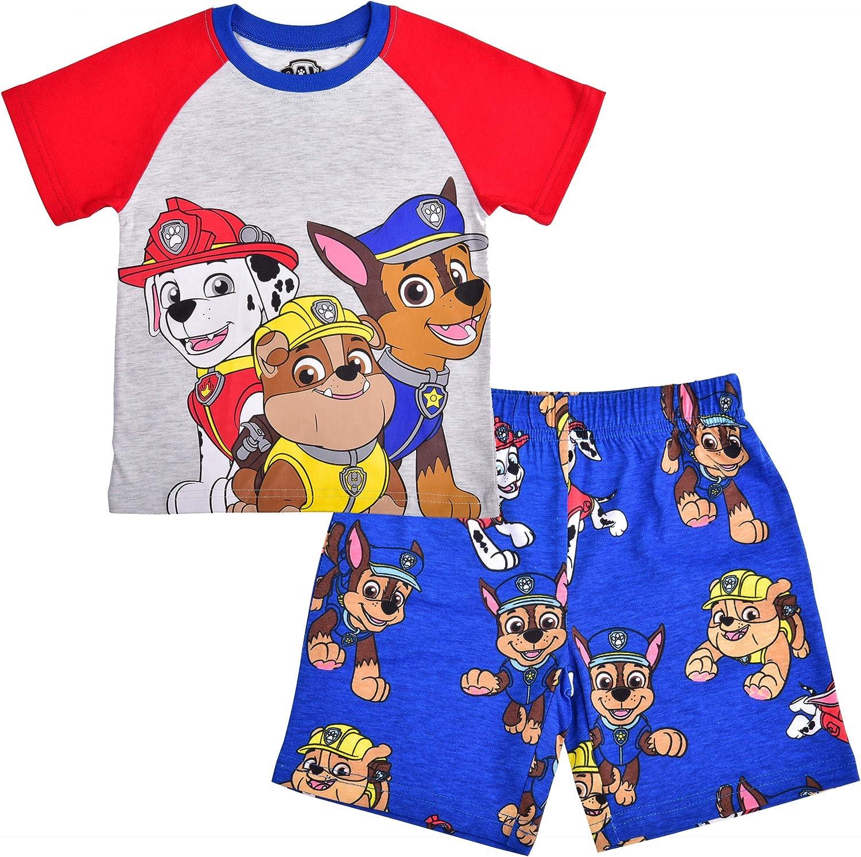 Nickelodeon Boys 2-Piece Paw Patrol Raglan Tshirt and Short Set