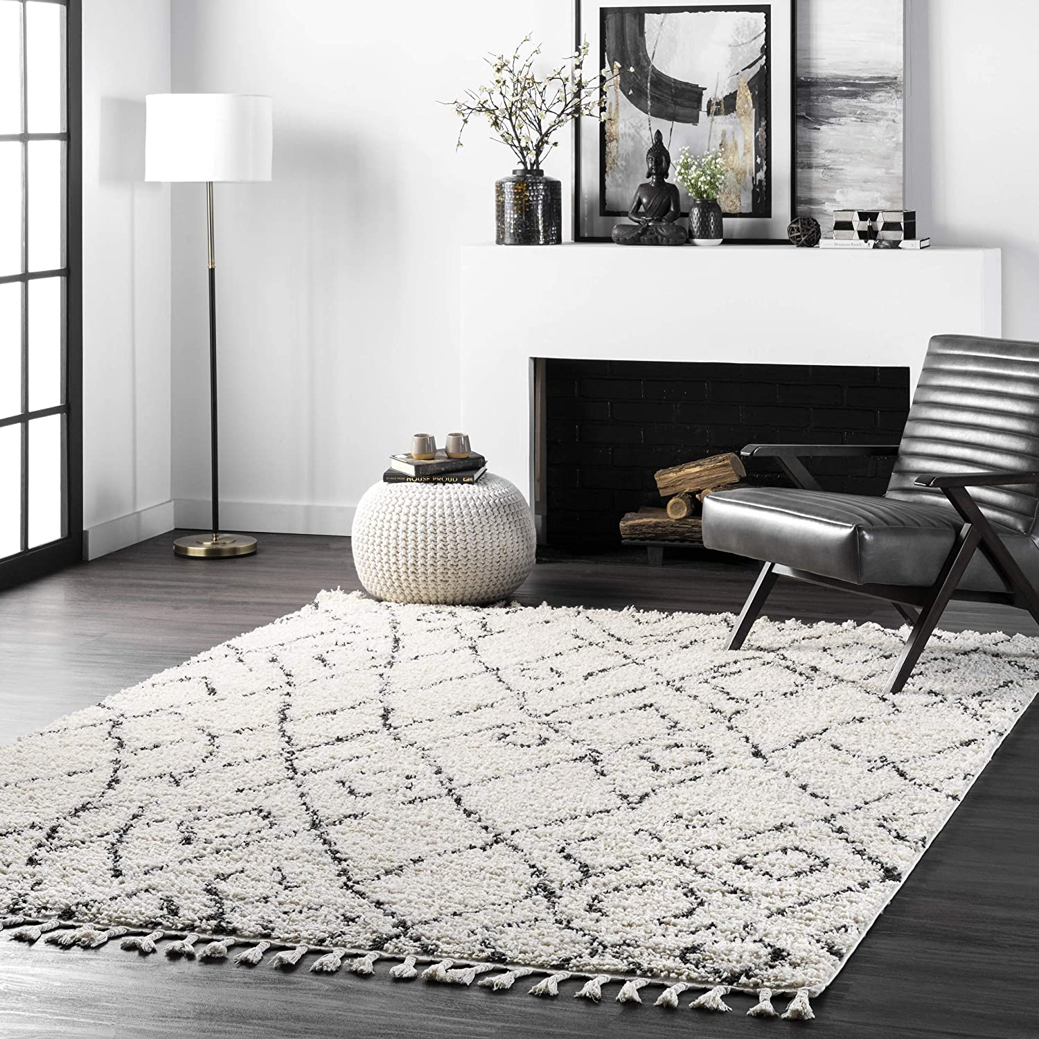 nuLOOM Nieves Moroccan Diamond Super intense SALE Shag Area Oval 10' 8' x Off Ranking TOP8 Rug