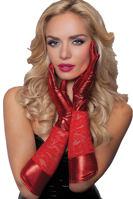 Seven 'til Midnight Women's Lame Gloves