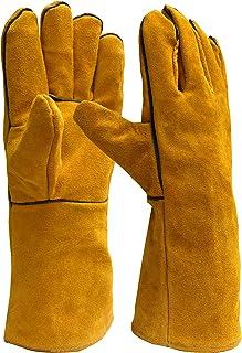 "Killer Whale Welding Gloves Lined Leather 14"", Gloves For Grill, Oven Mitt"