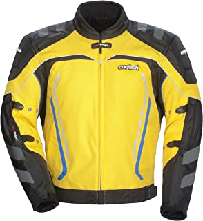 Cortech GX Sport 3 Men's Textile Armored Motorcycle Jacket (Yellow/Black, X-Small)