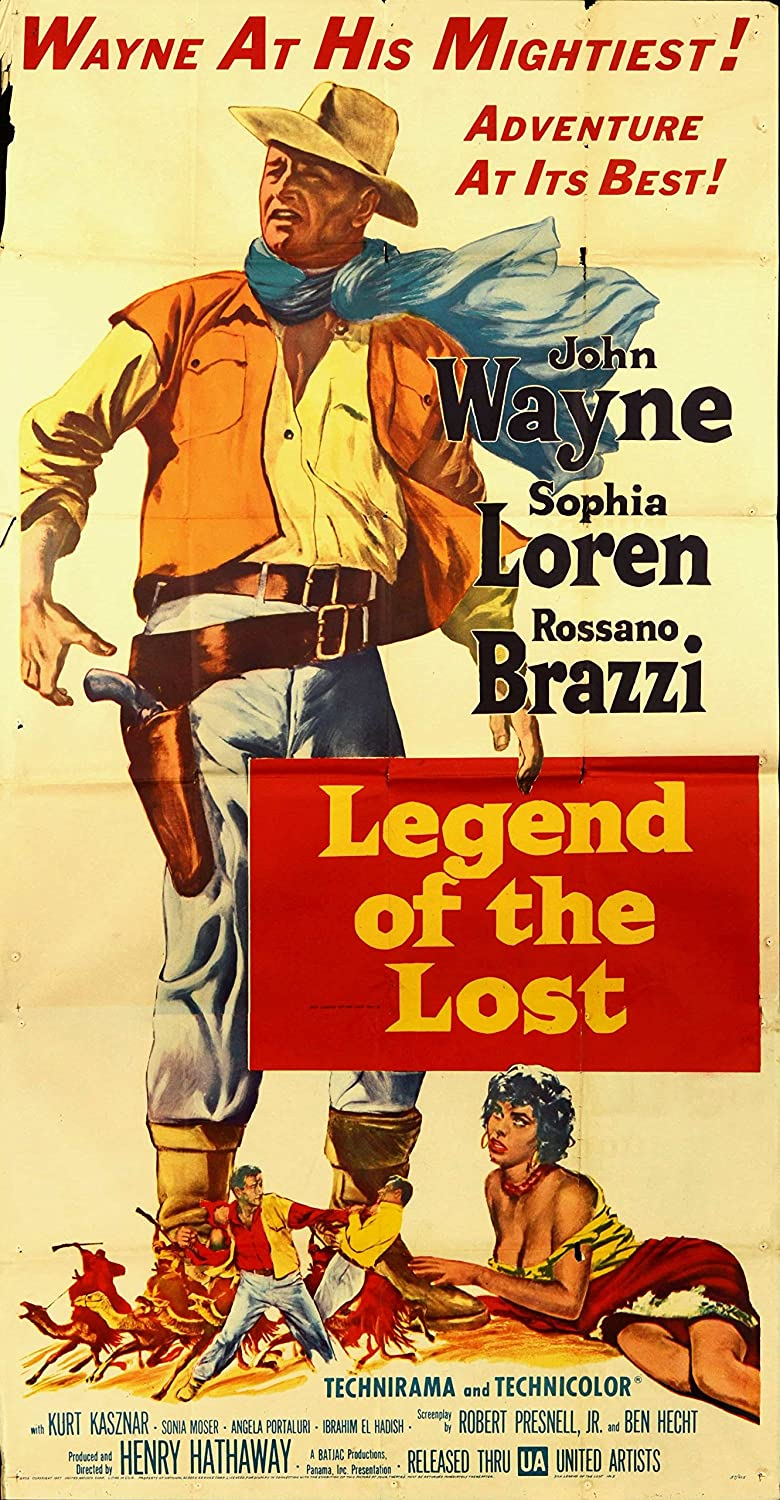 Legend of the Lost  Vintage Movie Poster Canvas Print A4 A3 A2 A1 A0 new Beste cheap (A0 Canvas (30 40))