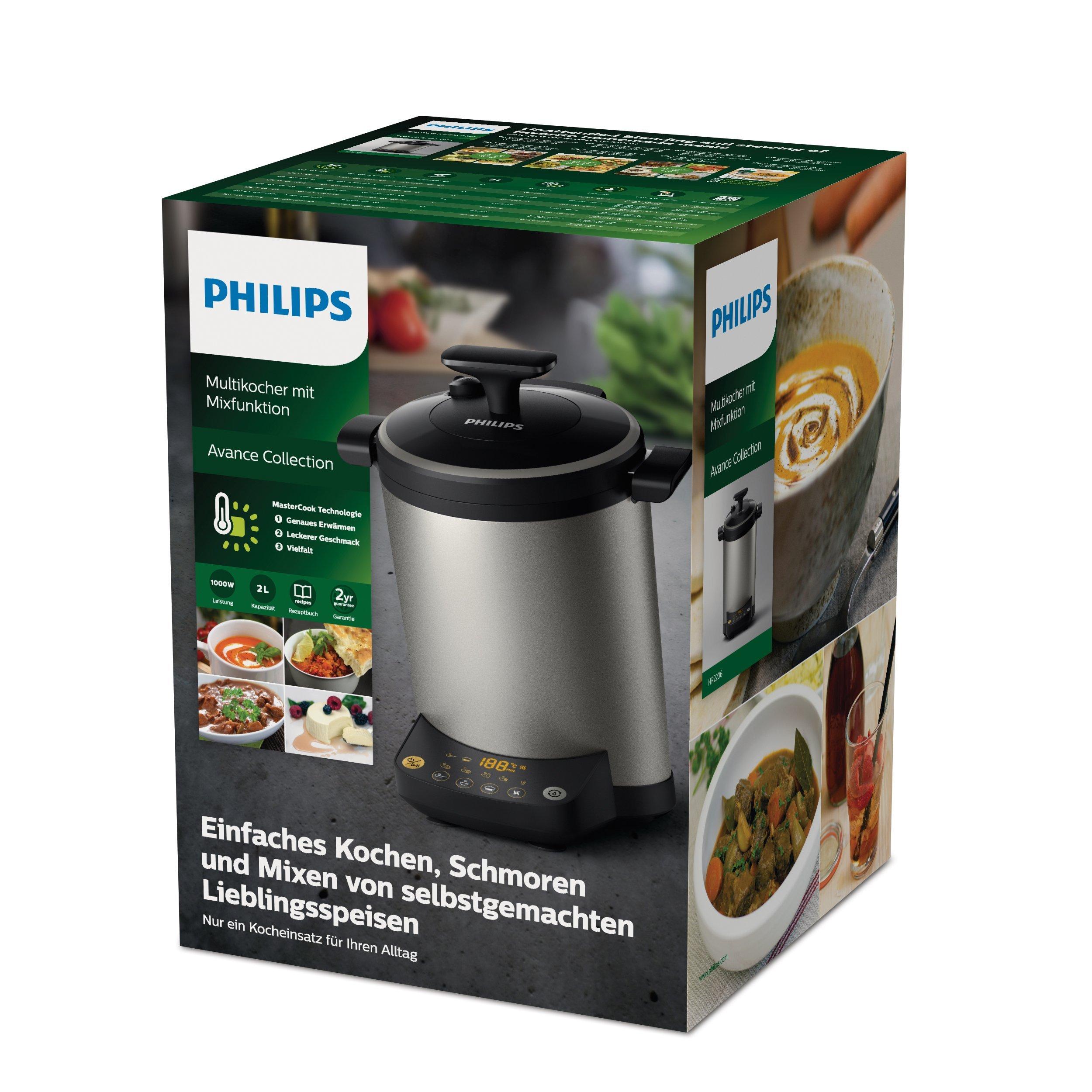 Philips HR2206 80 cocina electrodoméstico/vapor para cocinar/mezclador metálicos 282 x 357 x 32 cm, 1000 W): Amazon.es: Hogar