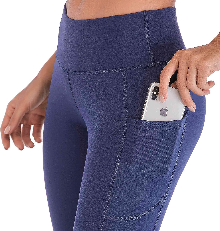 Tummy Control Yoga Capris for Women 4 Way Stretch Capri Leggings with Pockets IUGA High Waist Yoga Pants with Pockets