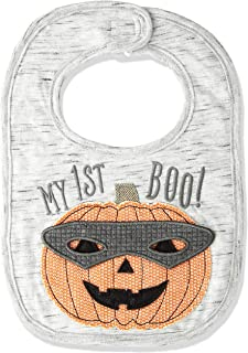 Mud Pie Baby Boys Pumpkin My First Halloween Bib, gray, 0-12 Months