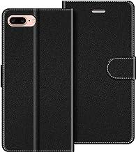 COODIO Funda iPhone 8 Plus con Tapa, Funda Movil iPhone 8 Plus, Funda Libro iPhone 7 Plus Carcasa Magnético Funda para iPhone 8 Plus/iPhone 7 Plus, Negro