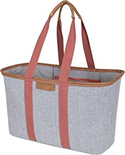 CleverMade SnapBasket LUXE – Reusable Collapsible Durable Grocery Shopping Bag with..