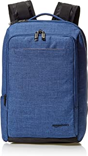 AmazonBasics Slim Carry On Travel Backpack Overnight, Blue