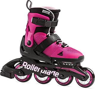 Rollerblade Microblade Girl's Adjustable Fitness Inline Skate, Pink and Bubble Gum, Junior, Youth Performance Inline Skates