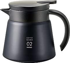 Hario VHS-60B - Estructura doble de aspiradora, Servidor de café, Negro, 600ml, 1