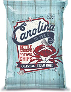 Carolina Kettle Kettle Cooked Potato Chips, Coastal Crab Boil, 5 Oz