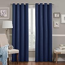 (navy, 95x52) - Eclipse Round and Round Room Darkening Window Curtain Panel